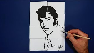 Where is Elvis Presley? Magic Trick Art