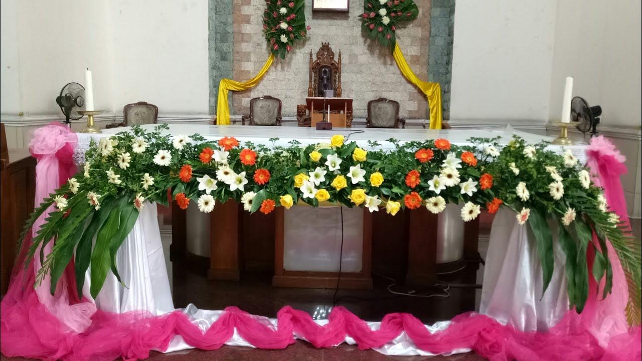 Rangkaian Bunga Altar Utk Pernikahan Youtube Rangkaian bunga altar gereja