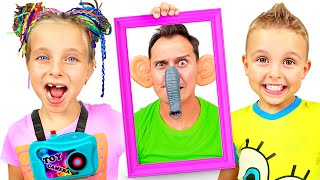 Adi and Alex plays with magic photos | Pretend play with Fursiki show