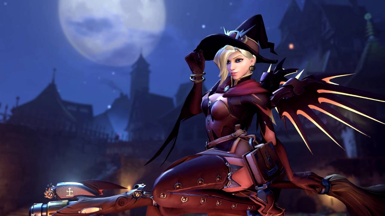 Overwatch - Mercy Halloween Loop - YouTube