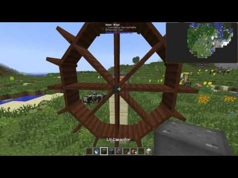 Immersive Engineering how to: Water wheel
