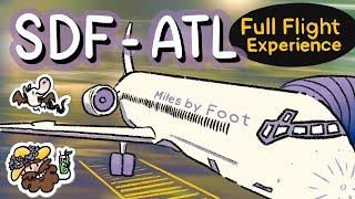 Louisville to Atlanta Early Morning Full Flight!