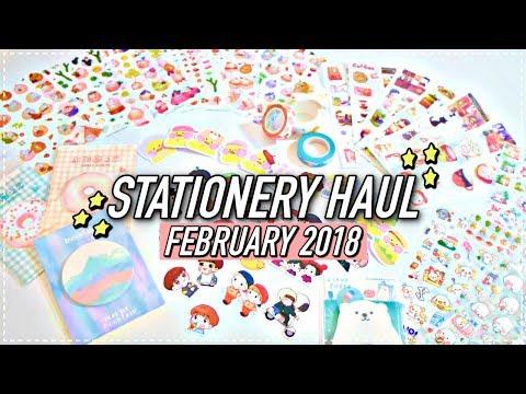STATIONERY HAUL! (FEB 2018) | KPOPAMOO
