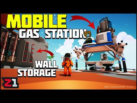 Making WALL STORAGE and a Mobile Gas Station! Astroneer Update 10 Gameplay | Z1 Gaming