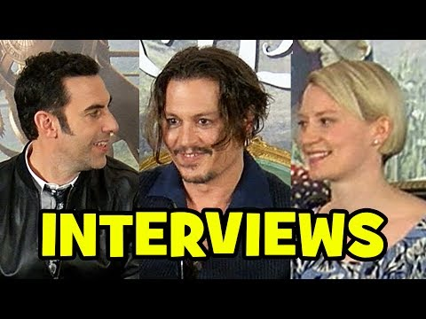 ALICE THROUGH THE LOOKING GLASS Press Conference - Johnny Depp, Sacha Baron Cohen, Mia Wasikowska