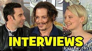 ALICE THROUGH THE LOOKING GLASS Press Conference - Johnny Depp, Sacha Baron Cohen, Mia Wasikowska