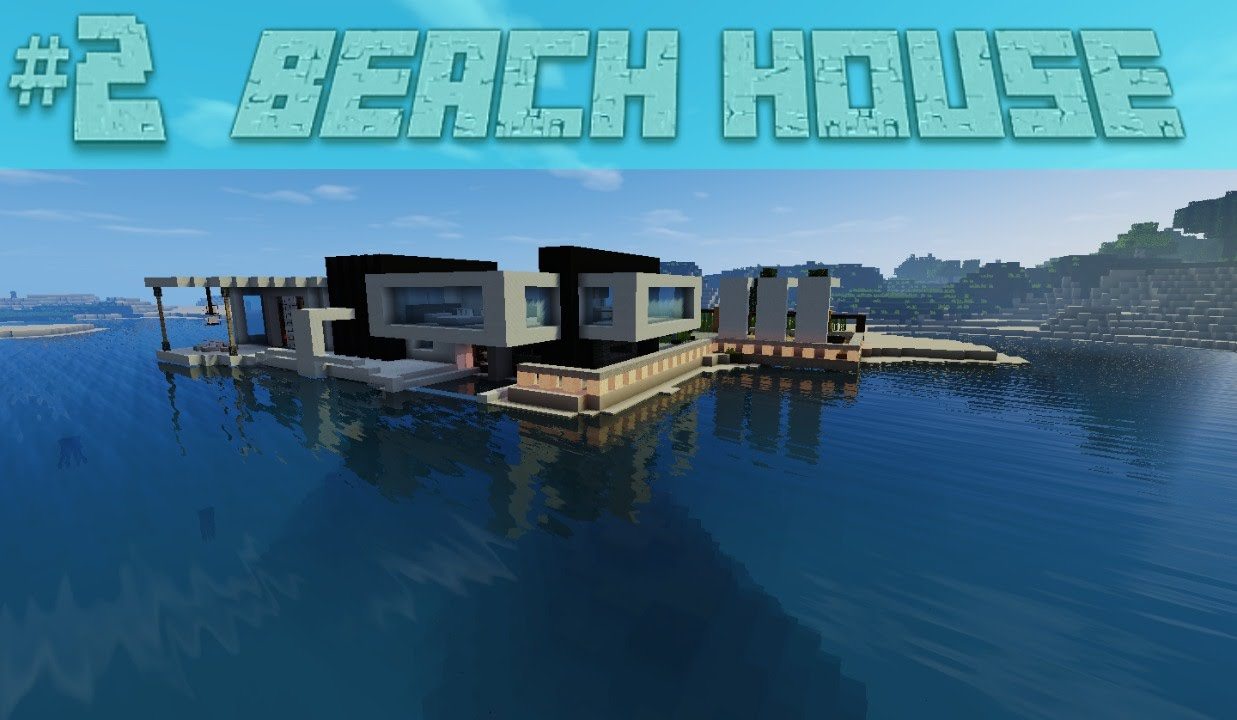 minecraft modern beach house cool creation cool minecraft builds youtube. Black Bedroom Furniture Sets. Home Design Ideas