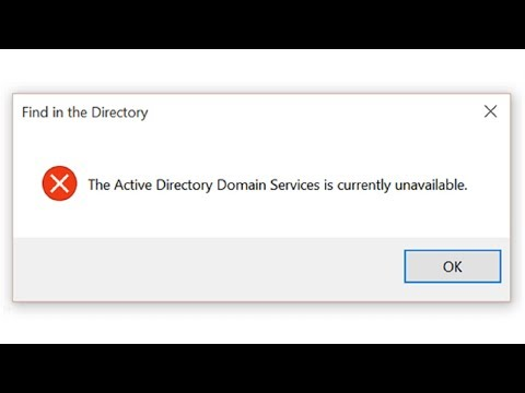 """Fix """"Active Directory Domain Services Currently Unavailable"""" in Windows"""