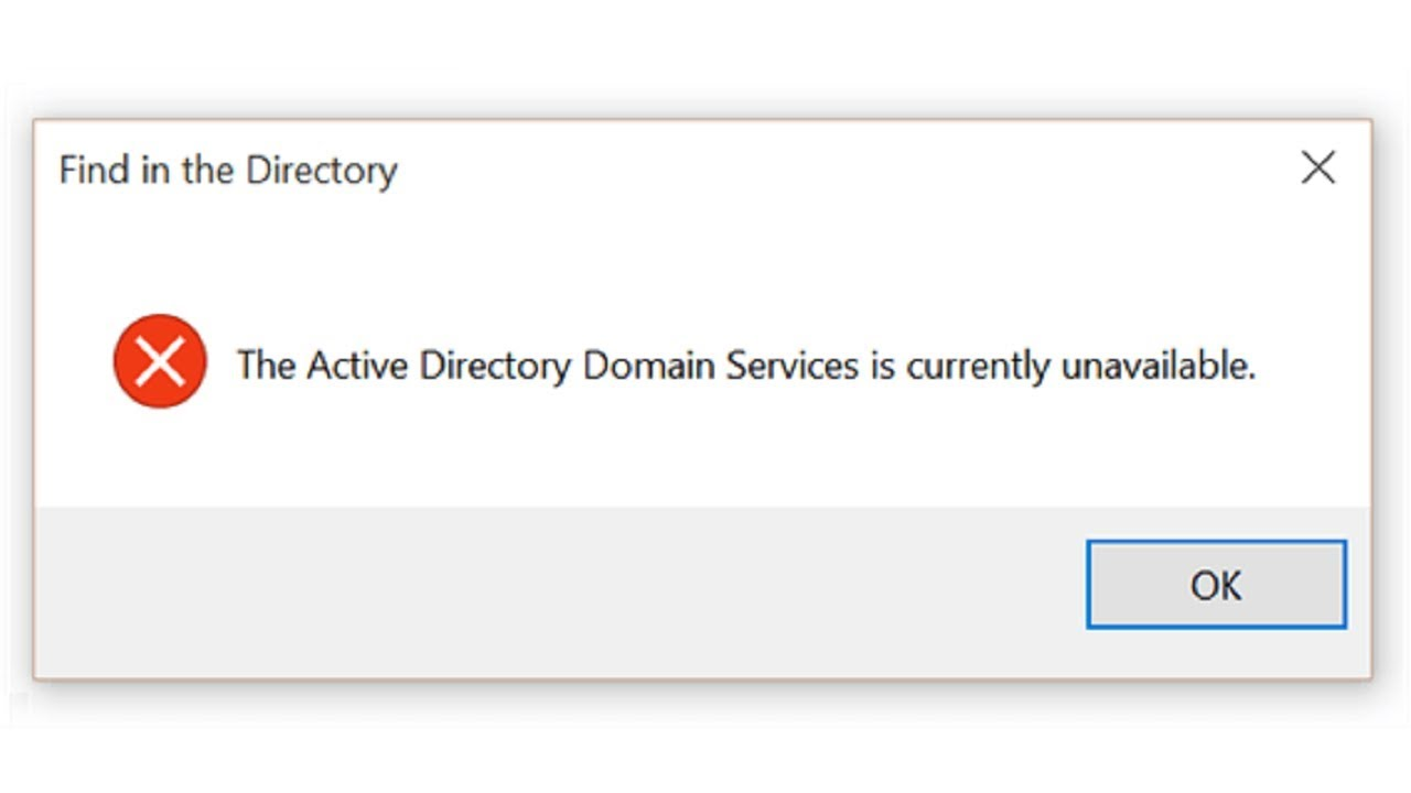 the active directory domain service is currently unavailable windows 8.1