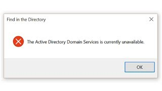 "Fix ""Active Directory Domain Services Currently Unavailable"" in Windows"