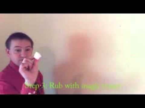 the easy way to clean clean crayon off a wall youtube. Black Bedroom Furniture Sets. Home Design Ideas