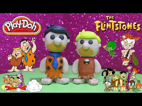 Funko Pop Fred Flintstone and Barney Rubble with How to Play Doh and Plastilina Figures
