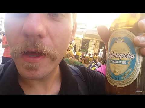 Beer drinking Turkish hooligans in Belgrade!