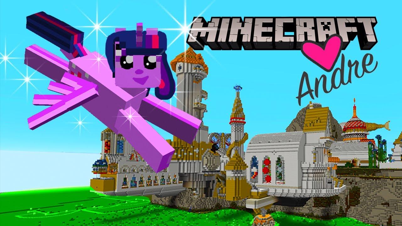 Me convierto en Twilight de My Little Pony y me voy a Canterlot de Minecraft   Andre se hace Gamer