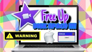 NEW YOUTUBE CREATORS WATCH THIS   HOW TO FREE UP DISK SPACE IN IMOVIE  SAWLIFE