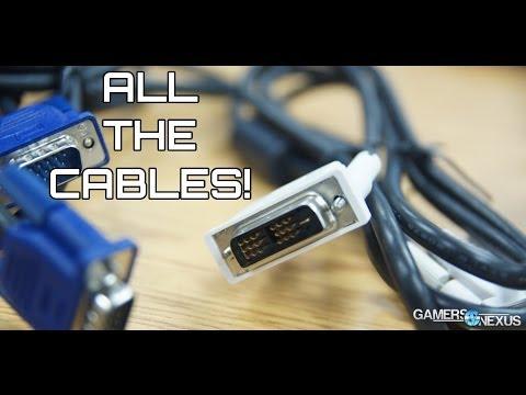 CABLES! DVI Differences vs. HDMI vs. DisplayPort; SATA II vs III cable speed, & More!