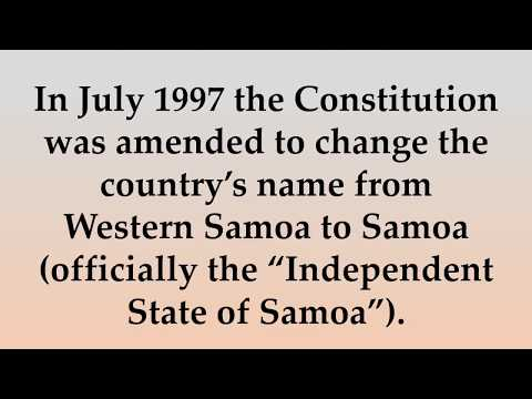 Historical and Cultural Facts about Samoa
