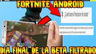 ✔️ FORTNITE ANDROID REAL DEPARTURE DATE FOR ALL DEVICES FILTERED BY EPIC