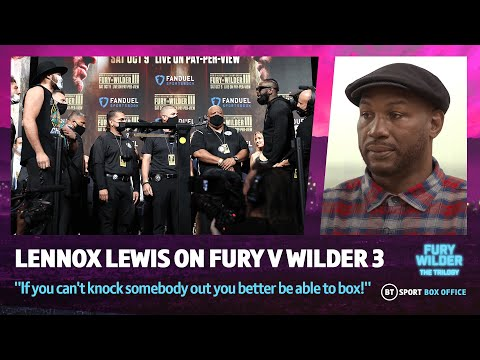 """""""If you can't knock somebody out you better be able to box!"""" - Lennox Lewis on Fury vs Wilder 3!"""
