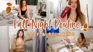 MY FALL NIGHT ROUTINE ♡ RELAXING AND COSY // AUTUMN 2020
