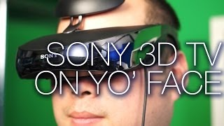 Sony Wearable Personal 3D TV Headset Unboxing and Review - Unpacked