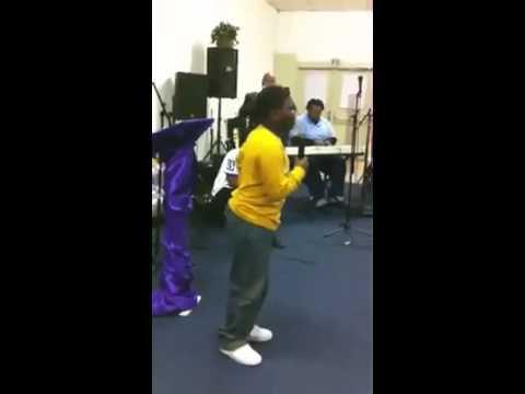 Boy Singing In Church