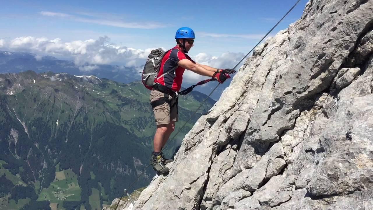 Klettersteig Rigidalstock : Rock safety days engelberg day rigidalstock youtube