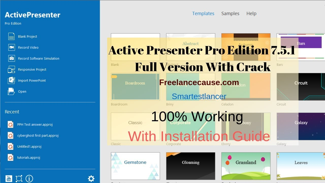 ACTIVE presenter 7.5.1 Pro Edition With Crack Full Free Download & Installation Guide (100% Working)
