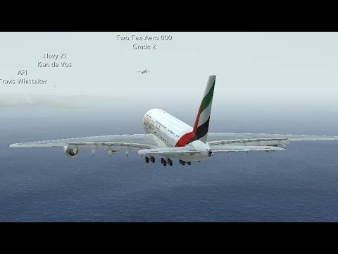 Infinite Flight Simulators broadcast. Emirates Airlines Airbus A380-800/ Los Angeles (KLAX Airport)