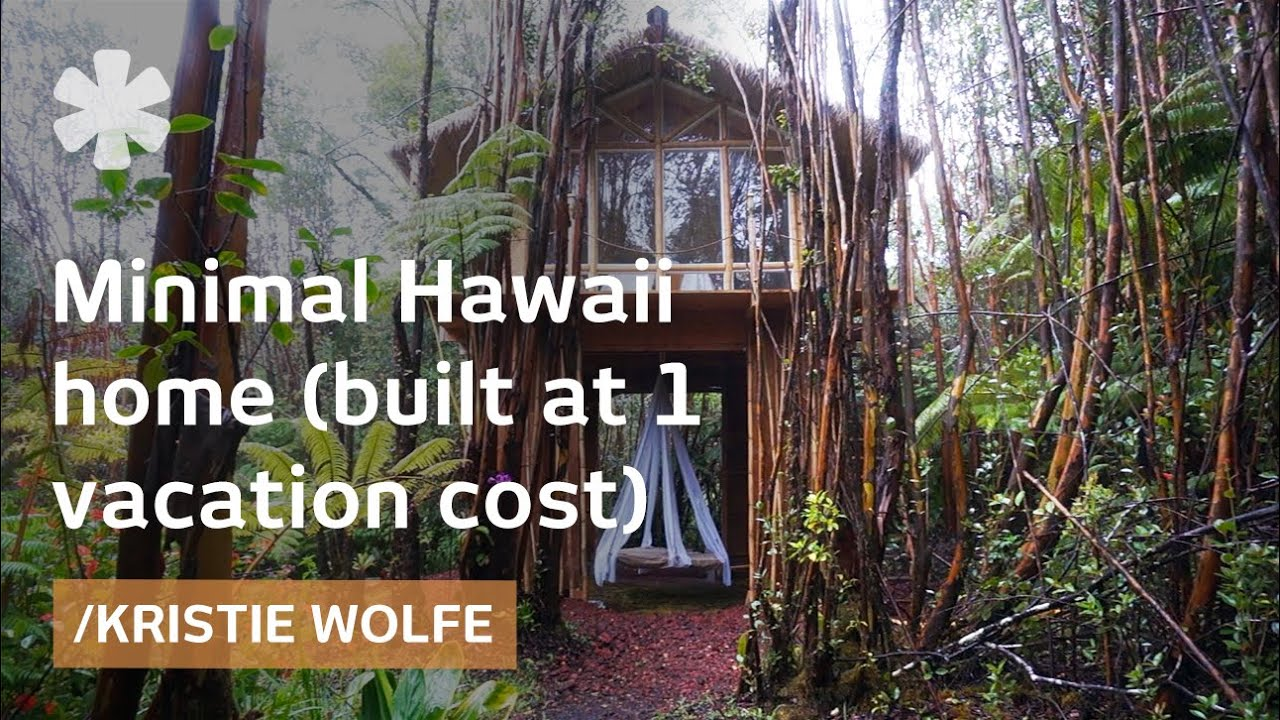 Building your own hawaii minimal house for a vacation 39 s for A frame house cost
