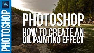 Photoshop CC Oluşturma ve yağlı BOYA Efekti