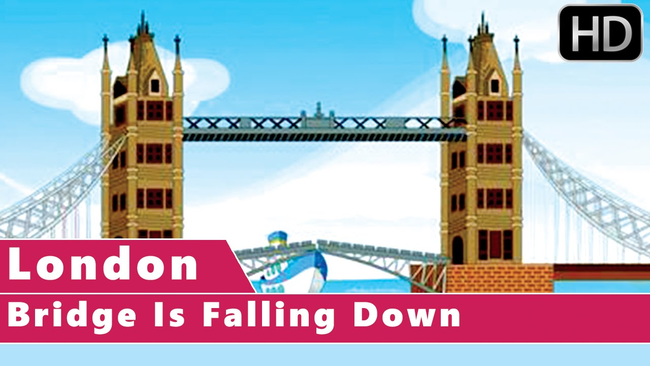 london bridge is falling down animation nursery rhymes