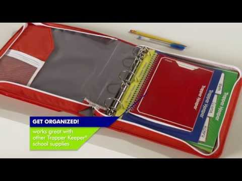 Your old school trapper keeper is making a comeback as a tablet case for Trapper keeper 2 sewn binder with exterior storage