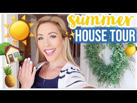 HOUSE TOUR!! SUMMER HOME TOUR 2019 ☀️🏡NEW POINT OF VIEW HOME DECOR WALK THROUGH | Brianna K