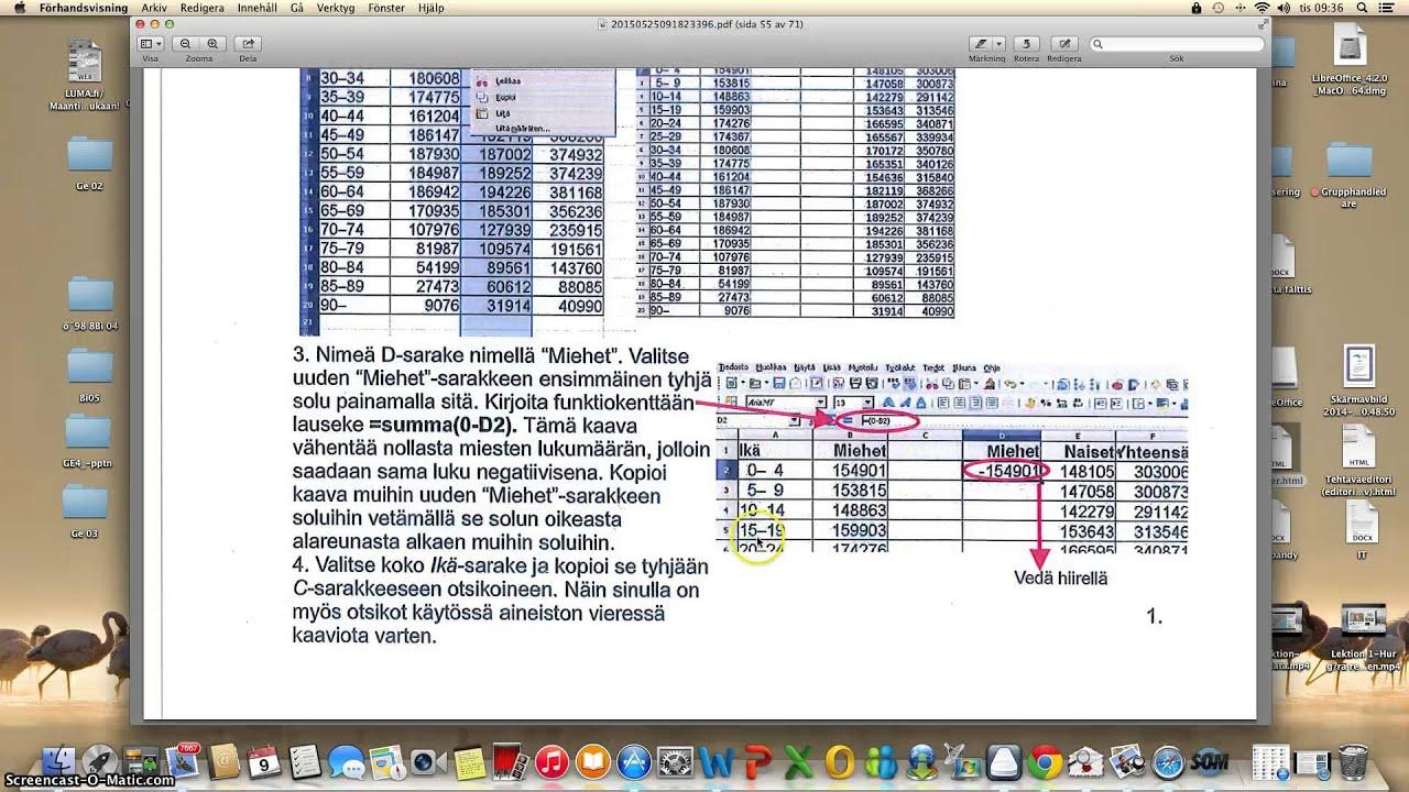 Lektion Hur g?ra befolkningspyramid med Libre Office