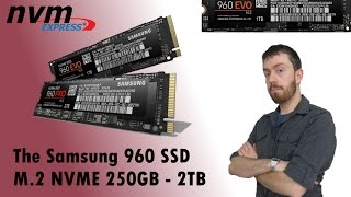 The Samsung 960 NVMe SSD range of M.2 Walkthrough and Talkthrough in PRO and EVO 2TB, 1TB and 500GB
