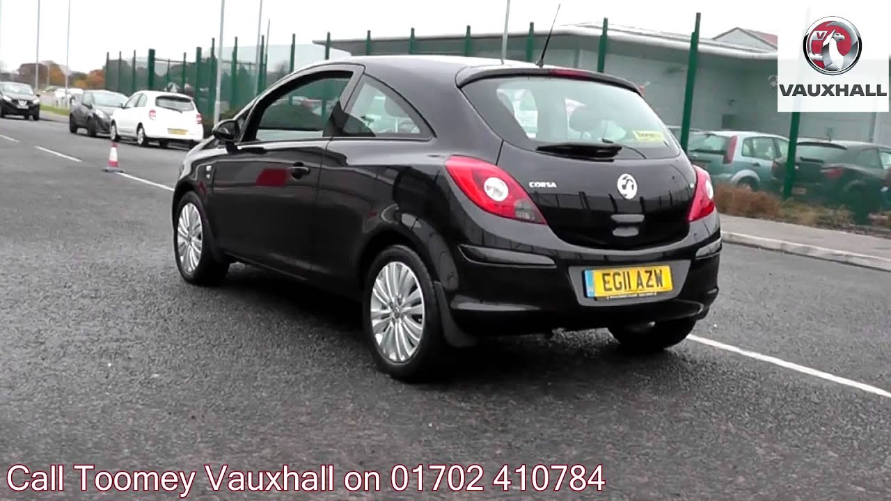 2011 vauxhall corsa excite black sapphire eg11azw for sale at toomey vauxhall southend. Black Bedroom Furniture Sets. Home Design Ideas