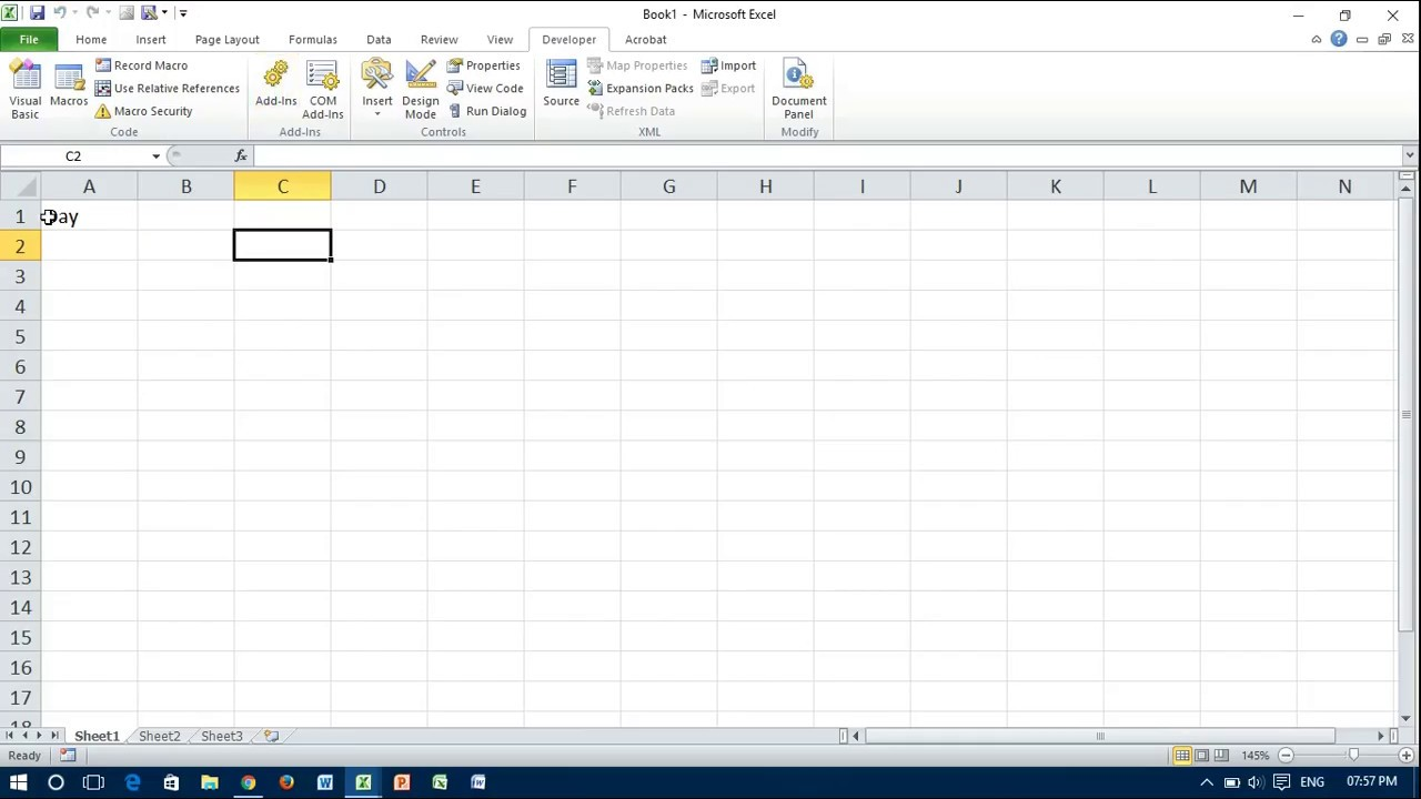 Excel VBA: Select a Cell & Write Value into it
