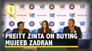 IPL Auction 2018: Preity Zinta Reacts to Buying Afghan Spinner Mujeeb Zadran | The Quint