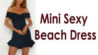 Women Dress Dot Mini Sexy Beach Dress Review