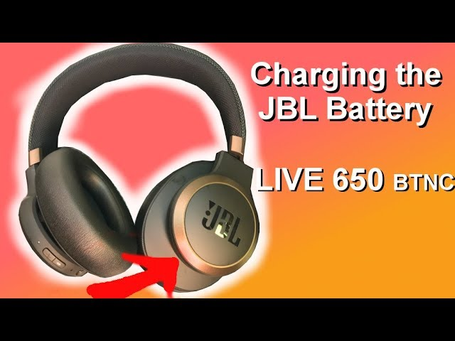 How To Charge The Battery Of Jbl Headphones Live 650 Btnc Youtube