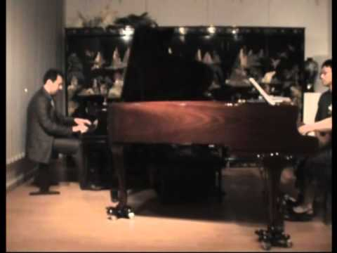 Rachmaninov Piano Concerto No. 3 in D minor, Op. 30 on 2 pianos (1st movement, 1/2)