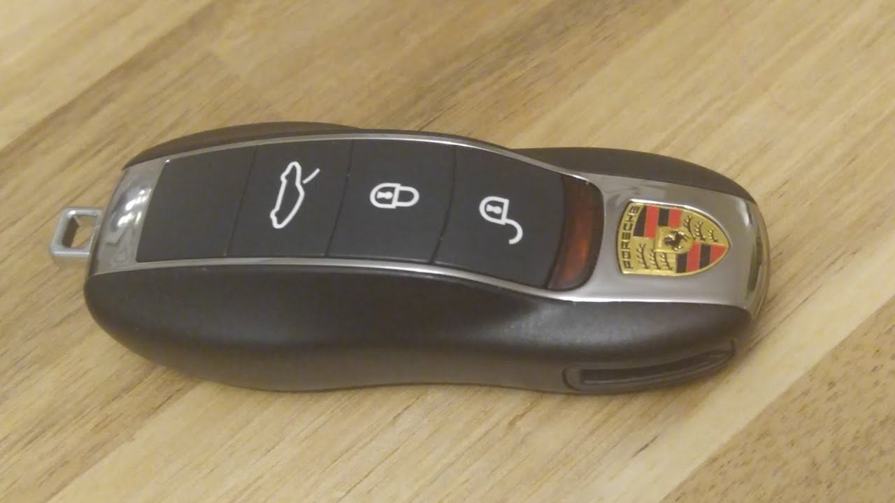Porsche , How to change SmartKey Key fob Battery on 911 Boxter Cayman
