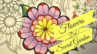 Secret Garden Coloring Book | Flowers. Part 3 | Jardim Secreto