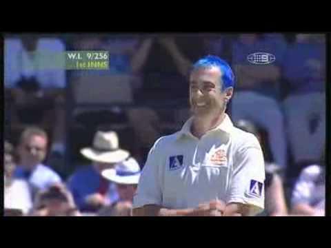 Colin Miller blue hair incident.funny blooper cricket.