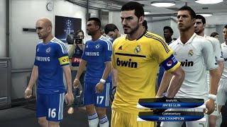 PES 2012 UEFA Champions League Final (Real Madrid vs Chelsea Gameplay) (re-upload)
