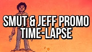 SMUT & JEFF promo piece time-lapse speed painting: A Photoshop Comic Coloring Tutorial
