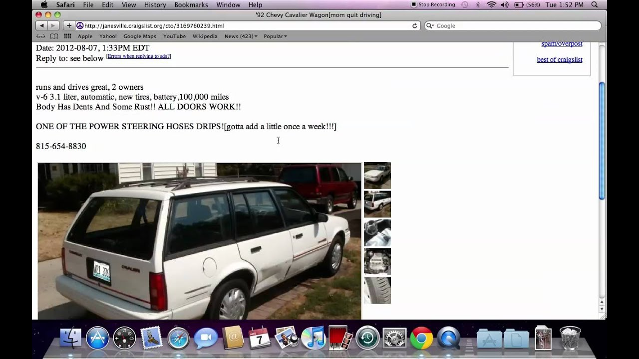 Craigslist janesville wisconsin used cars trucks and other vehicles by owner deals youtube