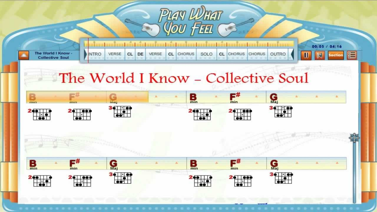 The World I Know Collective Soul Chords Lyrics Lesson