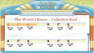 The World I Know - Collective Soul - Chords & Lyrics, Lesson, Guitaraoke - playwhatyoufeel.com